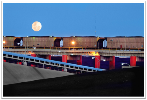 hopper cars of coke